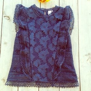 Anthropologie Guest Editor Crochet Lace Flutter